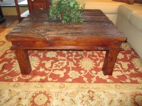 Reclaimed Wood C Table