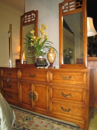 Henry Link Dresser & Two Mirrors